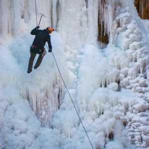 Frozen waterfall canyon ice canyoneering Arizona scenery waterfall rappelling